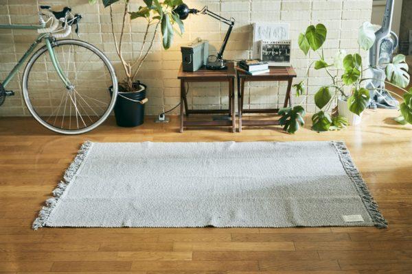 インド綿100% ラグマット「Hunk(ハンク)」110×160cm