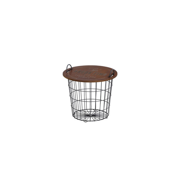 テーブル型バスケット 「TablePanier(ターブルパニエ) 」ラウンドバスケット