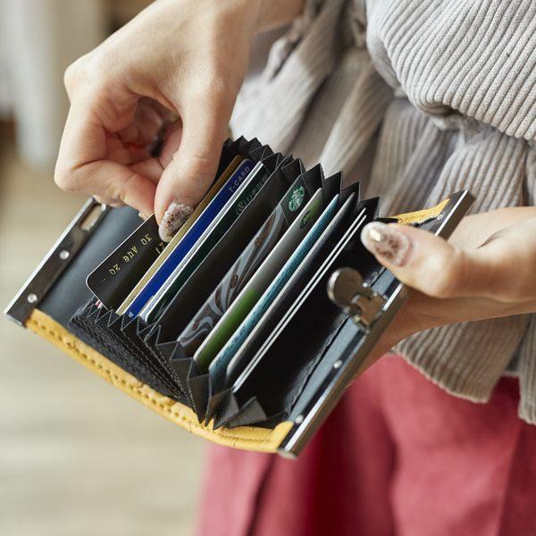オーストリッチ調型押しカードケース