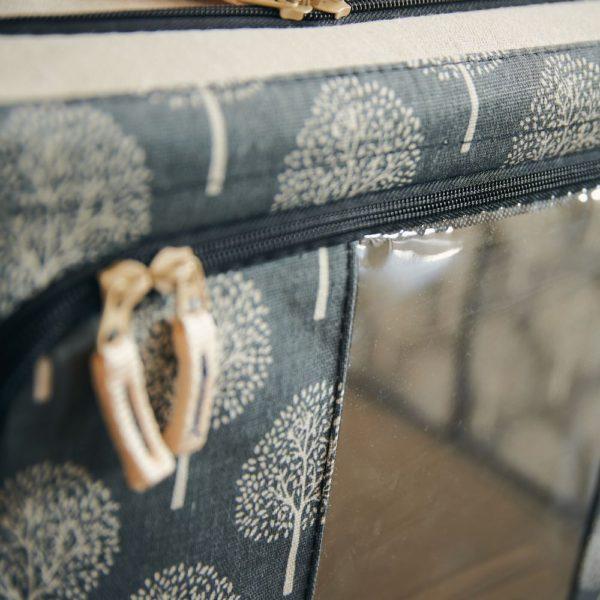 北欧調柄たためるスタッキング窓付き収納ボックス (66L)