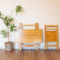 竹製折りたたみテーブル・チェア
