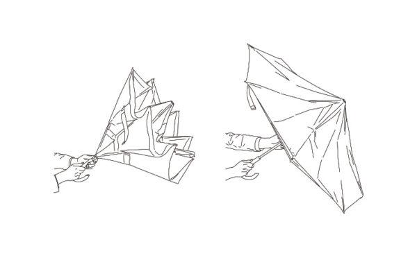 逆さに開く二重傘 circus サーカス EF-UM01