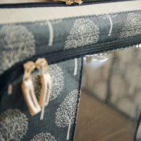 北欧調柄スタッキング窓付き収納ボックス (66L)