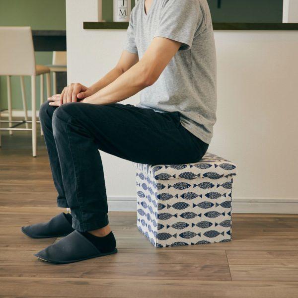 座ってしまえて畳める便利ボックス