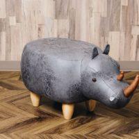 アニマルモチーフのスツール<br> Rhino リノ(サイ)