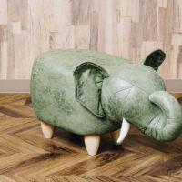 アニマルモチーフのスツール<br> Elephant エレファント