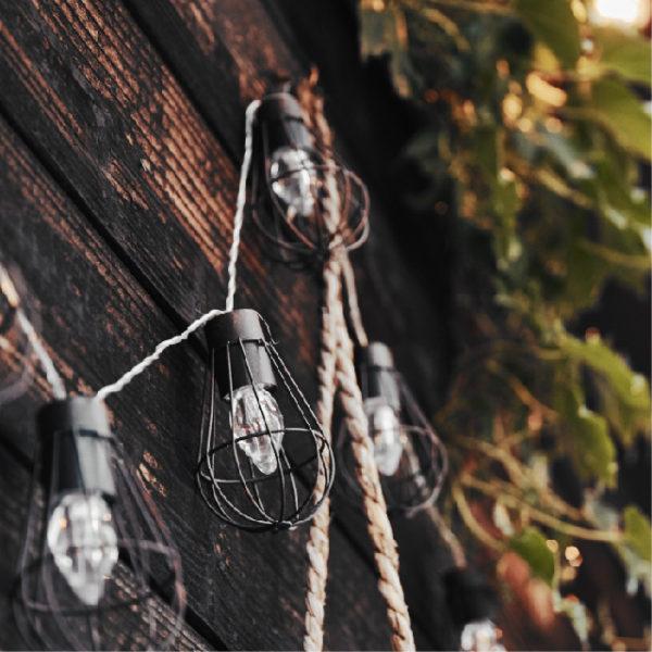 ソーラー充電式ガーランドライト antique(アンティーク)