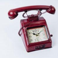 ヴィンテージモチーフクロック「telephone(テレフォン)」