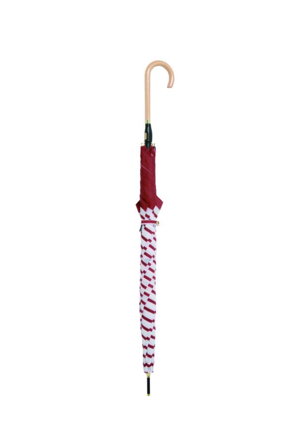 moz UVカットスリムジャンプ傘 ボーダー