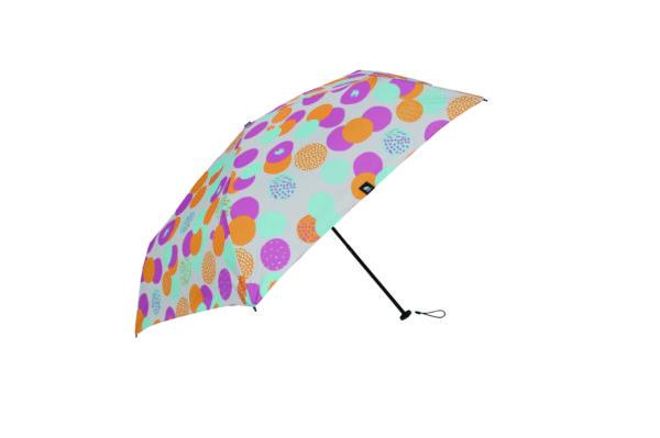 moz 耐風骨 UVカット折り畳み傘 ドット