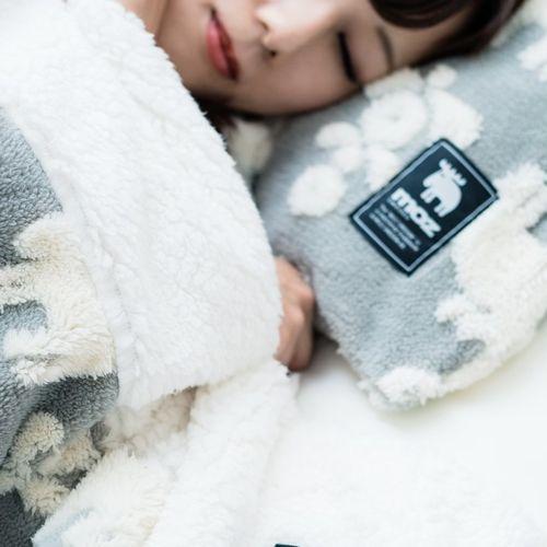 moz ジャガードボア枕カバー